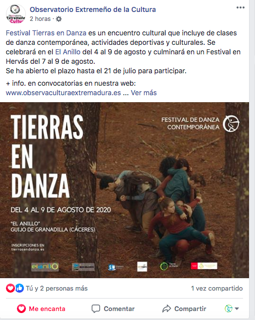observatorio extremeño cultura tierras en danza Sinergos