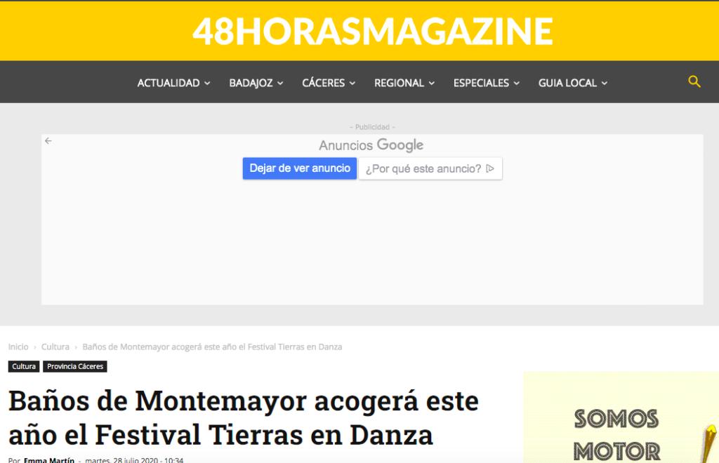 48 horas magazine Festival Tierras En Danza
