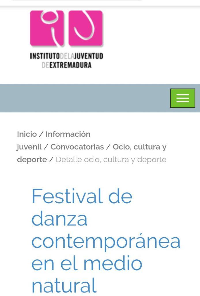 Instituto de la Juventud de Extremadura Tierras en Danza Sinergos