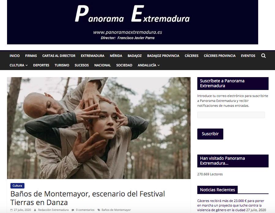 panorama extremadura Festival Tierras En Danza