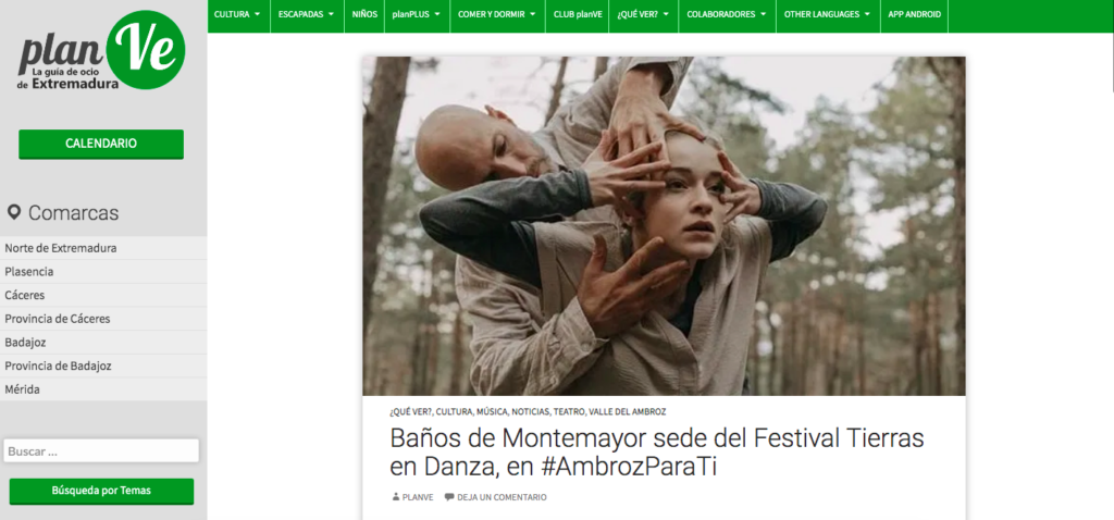 planve Festival Tierras en Danza