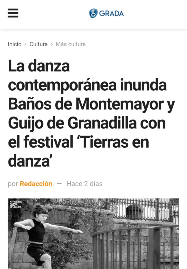 Revista Grada festival tierras en danza