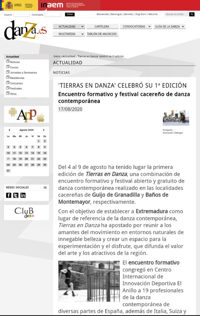 Tierras en danza Danza.es